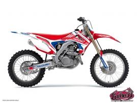 Honda 450 CRF Dirt Bike Chrono Graphic Kit Blue