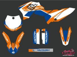 KTM 65 SX Dirt Bike Chrono Graphic Kit Blue