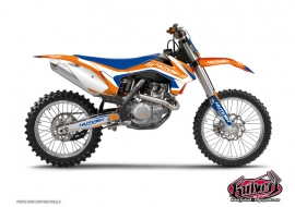KTM 85 SX Dirt Bike Chrono Graphic Kit Blue