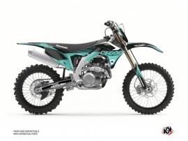 Kawasaki 450 KXF Dirt Bike Claw Graphic Kit Turquoise
