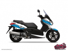 Yamaha XMAX 125 Maxiscooter Cooper Graphic Kit White Blue