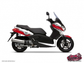 Yamaha XMAX 125 Maxiscooter Cooper Graphic Kit White Red