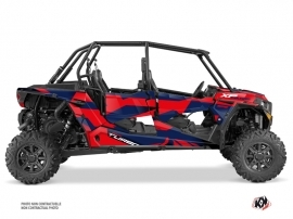 Polaris RZR 1000 Turbo 4 doors UTV Cruiser Graphic Kit Red Blue