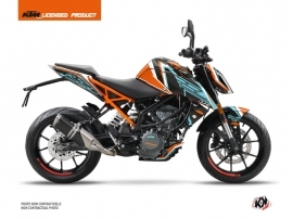 Kit Déco Moto Crux KTM Duke 390 Orange Bleu
