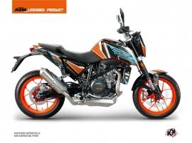 KTM Duke 690 R Street Bike Crux Graphic Kit Orange Blue