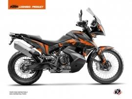 KTM 790 Adventure Street Bike Delta Graphic Kit Black Orange