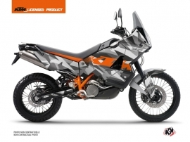 KTM 990 Adventure Street Bike Delta Graphic Kit Grey Orange