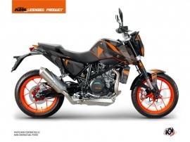 KTM Duke 690 R Street Bike Delta Graphic Kit Black Orange
