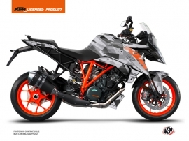 KTM Super Duke 1290 GT Street Bike Delta Graphic Kit Grey Orange