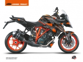 KTM Super Duke 1290 GT Street Bike Delta Graphic Kit Black Orange