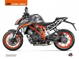 KTM Super Duke 1290 R Street Bike Delta Graphic Kit Grey Orange