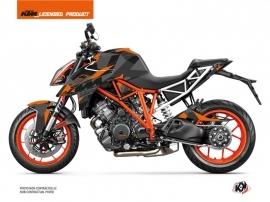 KTM Super Duke 1290 R Street Bike Delta Graphic Kit Black Orange