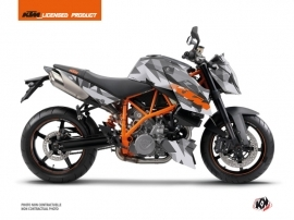 KTM Super Duke 990 Street Bike Delta Graphic Kit Grey Orange