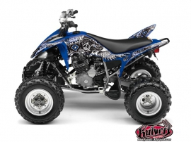 Yamaha 250 Raptor ATV Demon Graphic Kit Blue