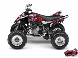 Yamaha 250 Raptor ATV Demon Graphic Kit Red