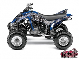 Yamaha 350 Raptor ATV Demon Graphic Kit Blue