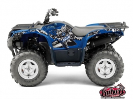 Yamaha 550-700 Grizzly ATV Demon Graphic Kit Blue