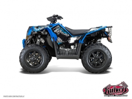 Polaris Scrambler 850-1000 XP ATV Demon Graphic Kit Blue FULL