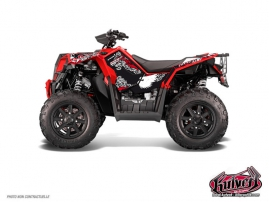 Polaris Scrambler 850-1000 XP ATV Demon Graphic Kit Red FULL