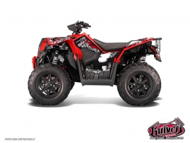 Polaris Scrambler 850-1000 XP ATV Demon Graphic Kit Red