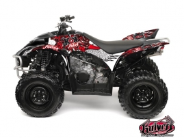 Yamaha 350-450 Wolverine ATV Demon Graphic Kit Red