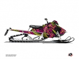 Polaris Axys Snowmobile Dizzee Graphic Kit Pink