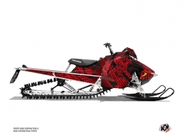 Polaris Axys Snowmobile Dizzee Graphic Kit Red