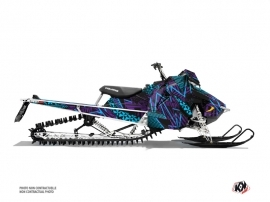 Polaris Axys Snowmobile Dizzee Graphic Kit Purple