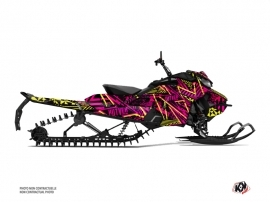 Skidoo Gen 4 Snowmobile Dizzee Graphic Kit Pink
