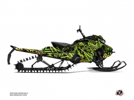Skidoo Gen 4 Snowmobile Dizzee Graphic Kit Green