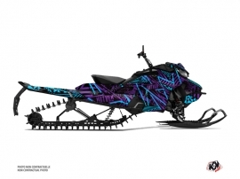 Skidoo Gen 4 Snowmobile Dizzee Graphic Kit Purple