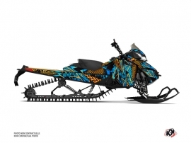 Skidoo REV XM Snowmobile Dizzee Graphic Kit Blue