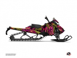 Skidoo REV XM Snowmobile Dizzee Graphic Kit Pink