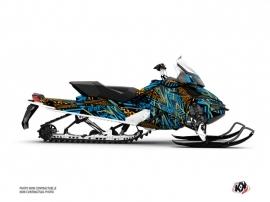 Skidoo REV XP Snowmobile Dizzee Graphic Kit Blue