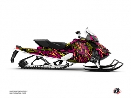 Skidoo REV XP Snowmobile Dizzee Graphic Kit Pink
