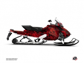 Skidoo REV XP Snowmobile Dizzee Graphic Kit Red
