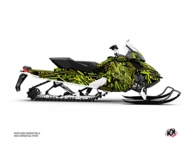 Skidoo REV XP Snowmobile Dizzee Graphic Kit Green