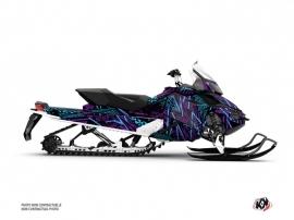 Skidoo REV XP Snowmobile Dizzee Graphic Kit Purple
