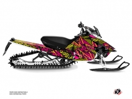 Yamaha SR Viper Snowmobile Dizzee Graphic Kit Pink