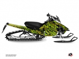 Yamaha SR Viper Snowmobile Dizzee Graphic Kit Green