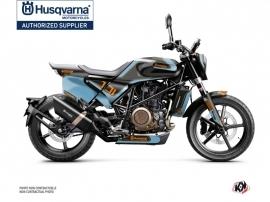 Kit Déco Moto Dusk Husqvarna Svartpilen 701 Bleu Noir