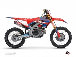 Honda 450 CRF Dirt Bike Dyna Graphic Kit Blue