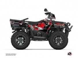 Kit Déco Quad Elka Polaris 570 Sportsman Forest Gris Rouge