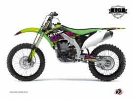 Kawasaki 250 KX Dirt Bike Eraser Graphic Kit Green LIGHT
