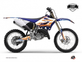 Yamaha 250 YZ Dirt Bike Eraser Graphic Kit Blue Orange LIGHT