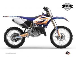 Yamaha 125 YZ Dirt Bike Eraser Graphic Kit Blue Orange LIGHT