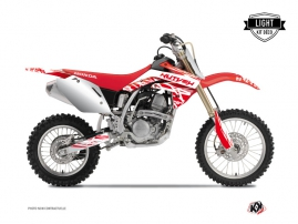 Kit Déco Moto Cross Eraser Honda 125 CR Blanc Rouge LIGHT