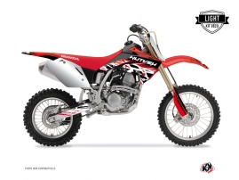 Kit Déco Moto Cross Eraser Honda 125 CR Rouge Blanc LIGHT