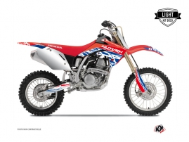 Kit Déco Moto Cross Eraser Honda 125 CR Rouge Bleu LIGHT