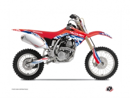 Kit Déco Moto Cross Eraser Honda 125 CR Rouge Bleu